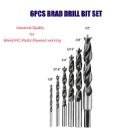 Wholesale BMR TOOLS Brad Point Drill Bit Set-6pcs inch size industrial quality for wood ply-wood pvc tube and plastic working from china suppliers