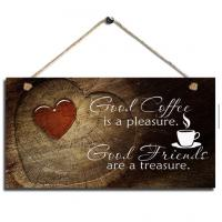 China cheap wall decor home decor wood sign plaque coffee wall hanging live laugh love wall decor wall decoration ideas on sale