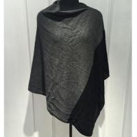 Quality Black Grey Sleeveless Poncho Cardigan Sweater For Women Adults Autumn / Winter for sale