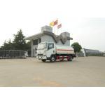 China White Fuel Truck Trailer / Bogie Suspension Two Axle Trailer 11500KGS for sale