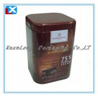 Wholesale square fashion coffee packaging tin can from china suppliers