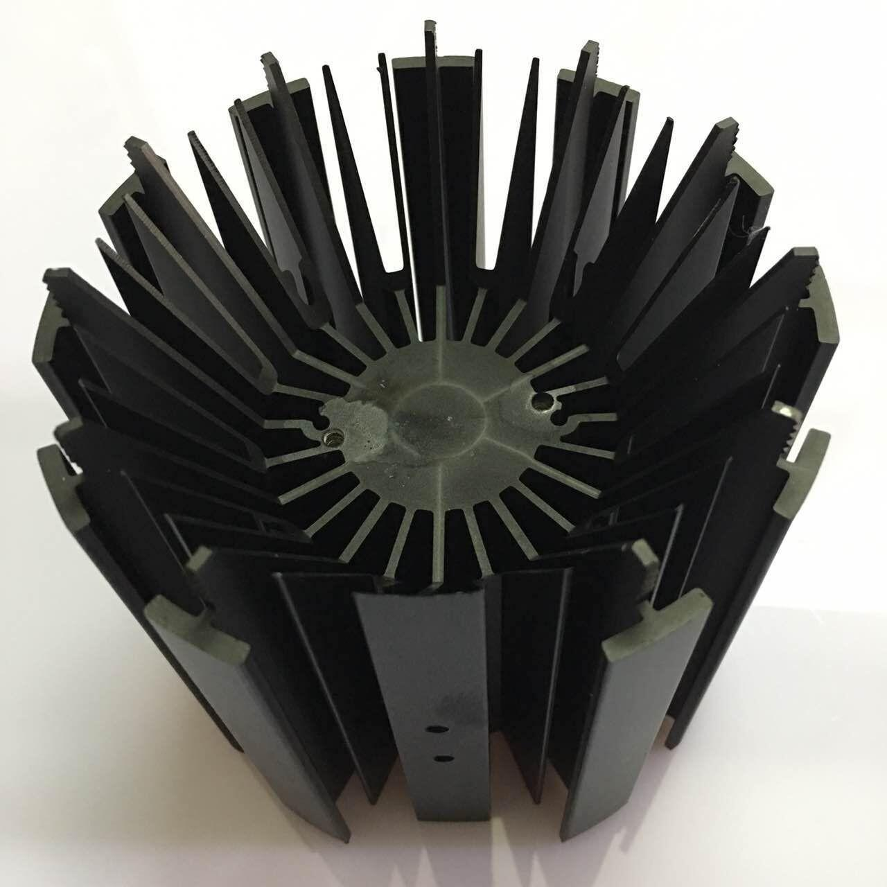 Wholesale CNC Machining LED Module Street Light Aluminum Heat Sink Profiles With Black Anodizing from china suppliers