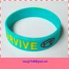 simple fashion rubber cancer bracelets for sale