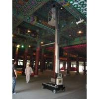 Quality Single Mast Lift For Fixture Works , 6.2m Height Self Propelled Work Platform for sale