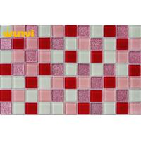 Wholesale Glossy Purple Glass Mosaic Bathroom Tiles For Interior Decoration , SGS from china suppliers
