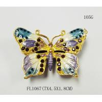 Wholesale Pewter wholesale Butterfly shape custom metal jewelry box from china suppliers