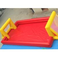 Red Outdoor Football Playground Inflatable Sports Games For Kids