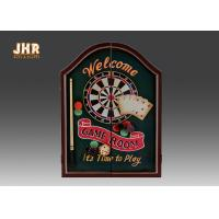 China Decorative Wall Dart Board Pub Sign Antique Wooden Dart Cabinet Set MDF Dart Box on sale