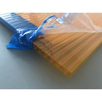 Wholesale Orange Double Wall Polycarbonate Panels , Polycarbonate Hollow Sheet UV Resistant from china suppliers