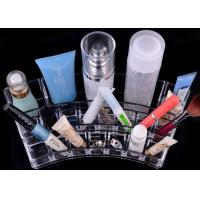 Wholesale Unique Clear Cosmetics Display Rack , Exquisite Acrylic Makeup Organizer from china suppliers
