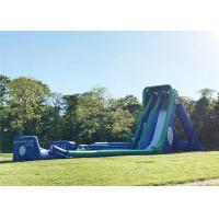 Wholesale Green 0.55mm PVC Tarpaulin Giant Inflatable Slide For Outdoor In Summer from china suppliers