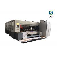 China Two Color Flexo Printing, Die Cutting And Stacker Machine on sale