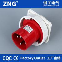 China Flush-mount Appliance Inlet AC380-415V 63a4p, Industrial Wall Plug 63a 3P+PE, Industrial Reverse Plug IP67 for sale
