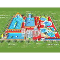 Wholesale Commercial inflatable water park equipment , metal frame inflatable amusement park from china suppliers