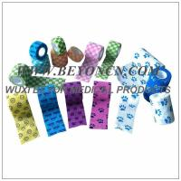 Wholesale OEM logo pattern printed Non Woven Bandage Self - adherent Wrap With Prints from china suppliers