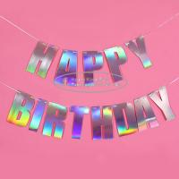 China 3m 4m 5m 6m Laser Paper Letter Garland For Birthday Decoration for sale