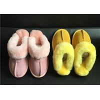 Wholesale Tan Suede Sheepskin Slippers Winter Women Chestnut Classic Sheepskin Slippers from china suppliers