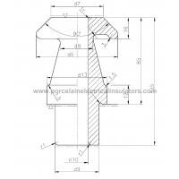 A-42539 LV transformer bushing drawing