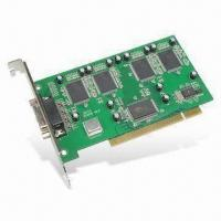 Wholesale PCI DVR Video Card with Multiple Area Motion Detect, Supports Plug-and-play Function from china suppliers