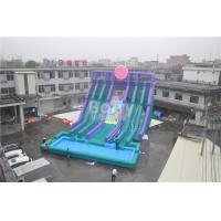 Wholesale Cool 5 Lanes Giant Inflatable Water Slide With Big Pool / Adult Inflatable Games from china suppliers