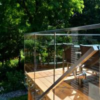 Wholesale Modern Deisgns Side Mount Stainless Steel Standoff Glass Railing for Terrace / Balcony from china suppliers