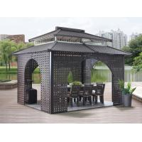 Wholesale China garden house outdoor pavilion with sofa garden rattan tents 1114 from china suppliers