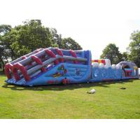 Wholesale Long Giant Outdoor Event Adult Kids Inflatable Obstacle Course With 0.55MM PVC from china suppliers
