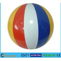 "Quality 16"" Diameter Giant Beach Ball , Rainbow Colored Plastic Beach Balls For Swimming Pools for sale"