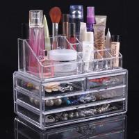 Wholesale Multifunction Plastic Makeup Display Stand Jewelry Display Cases With Three Drawer from china suppliers