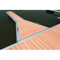 China Anti Corrosion WPC Decking Floating Dock With Aluminum Structure on sale