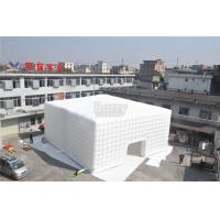 Wholesale White 15x15M Inflatable Tent , Custom Made Led Inflatable Party Tent Cube For Event from china suppliers