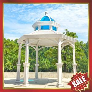 Buy cheap prefabricated garden park villa hotel Aluminium alloy metal gazebo pavilion kiosk pergola kits-beautiful sun shelter! from wholesalers