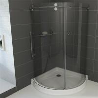 Wholesale Frameless Round Sliding Shower Enclosure with 10mm Clear Glass and Stainless Steel Hardware from china suppliers