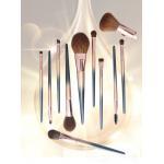 China OEM high quality wood handle full professional makeup brush set manufacturer for sale