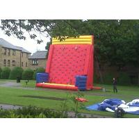 Wholesale Safety Sports Inflatable Rock Climbing Wall Rentals On The Land With PVC Material from china suppliers