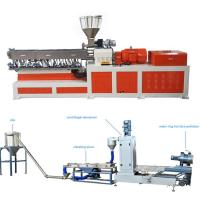 Wholesale High Capacity Plastic Dual Screw Extruder With Water Ring Pelletizing System from china suppliers