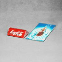 Quality Advertising Banner Stands Clear Acrylic Menu Holders Coca Cola New Launch for sale