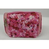 Wholesale Customized Fashionable Pink Floral Small Handle Storage Cosmetics Bags And Cases from china suppliers
