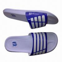 Wholesale EVA Injection Flat Slippers for Men, Made of Soft EVA Material, Sizes 39 to 44# from china suppliers