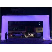Wholesale Large Inflatable Advertising Products Quadrate Purple Inflatable Led Light Arch from china suppliers