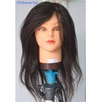 PVC Hairdressing Training Female Mannequin Head with Hair Length 16 - 24