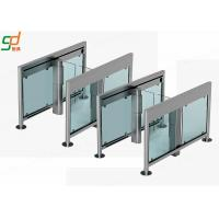 Wholesale Servo Motor Automatic Turnstiles 2.0 mm Thickness Glass Turnstile Solutions from china suppliers