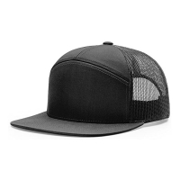 Wholesale 56CM 7 Panel Trucker Cap Richardson Blank Flat Brim 958 Snapback Hat For Men from china suppliers