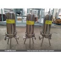 Buy cheap Small flow rate single Cartridge Filter Housing / 5 micron cartridge filter from wholesalers