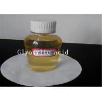 Wholesale Hair Care Cosmetic Raw Materials Glyoxylic Acid 50% Solution 298 12 4 Light Yellow Liquid from china suppliers