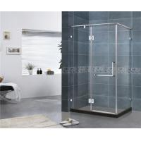Square Three Sides Frameless Hinged Shower Door With 10MM Tempered Glass for sale
