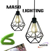 China Maso Vintage Small Diamond Pendant Lamp Metal Material MS-I6005 CE Rohs Approval Wire on sale