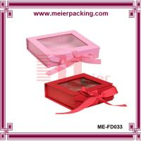 Wholesale PVC Window Paper Gift Box, Ribbon Closure Paper Packaging Gift Box ME-FD033 from china suppliers