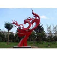 Wholesale Large Painted Red Metal Flame Sculpture , Abstract Metal Garden Sculptures from china suppliers