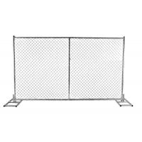 Wholesale 8 foot x 14 foot chain link temporary fencing panels mesh 60mm x 60mm x 2.7mm from china suppliers